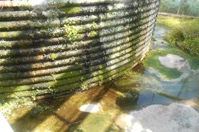 Lekkende opslag drainwater