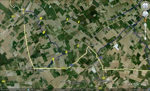Figuur 1 Illustratie van een frequente meting voor het MAP-meetpunt 990035 in Watou (West-Vlaanderen)